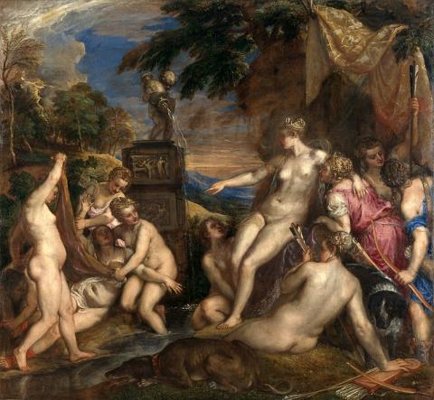 """Diana and Callisto"" Titian 1556"
