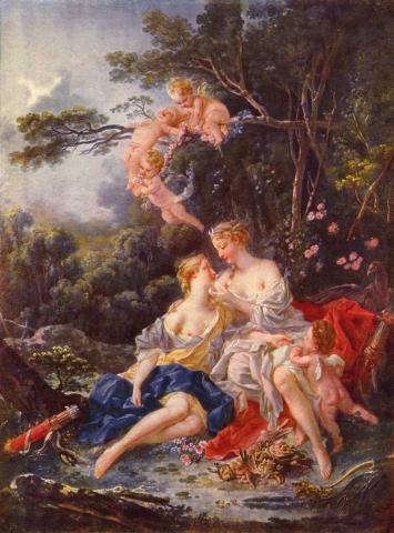"""Jupiter and Callisto""François Boucher 1743"